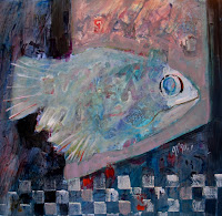 Fish Painting by Jean Blue