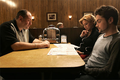 Tony Soprano and his family sit down for dinner in the final scene of The Sopranos