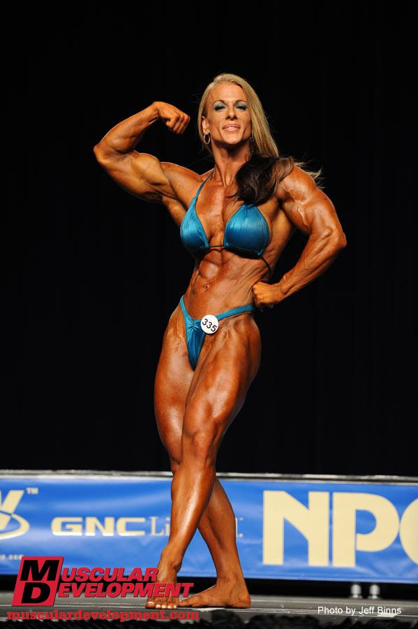 Amazing. The Npc figure bikini and bodybuilding that blue top