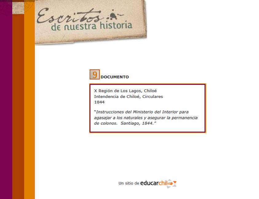 Biblioman a chilena escritos de nuestra historia for Imagen del ministerio del interior