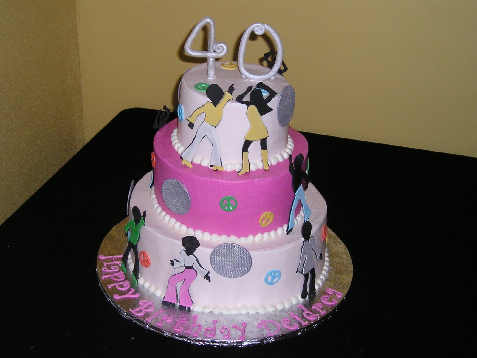Dee Licious Cakes Disco Themed 40th Birthday