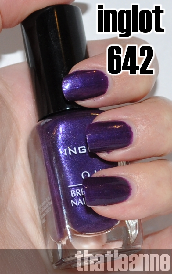thatleanne: Inglot O2M Nail Polish Swatches in 631, 641, 642, 644 to ...