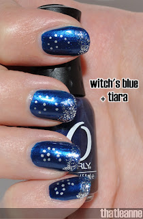 thatleanne new years eve nails orly witch's blue and
