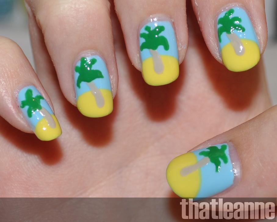 thatleanne: Tropical Island Summer Nails for Australia Day ;-)