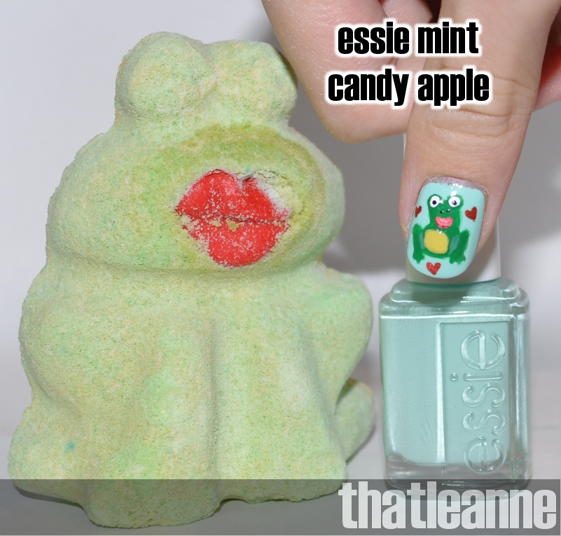 I chose Essie Mint Candy apple as a base because I didn 39t have a lime green
