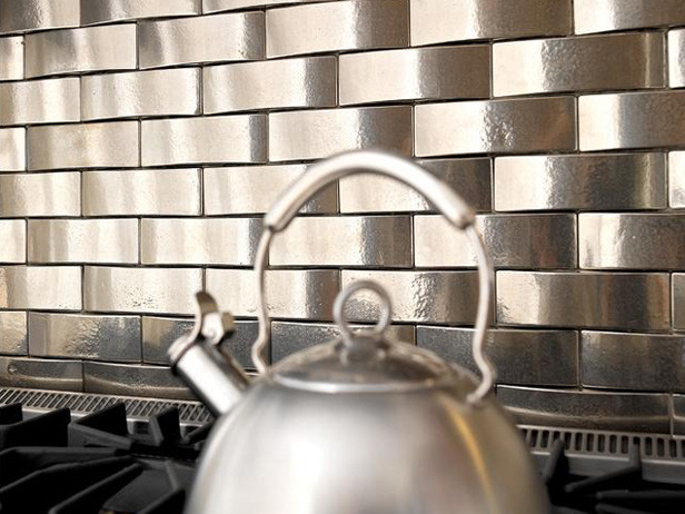 Metal Kitchen Backsplash Ideas with Tiles