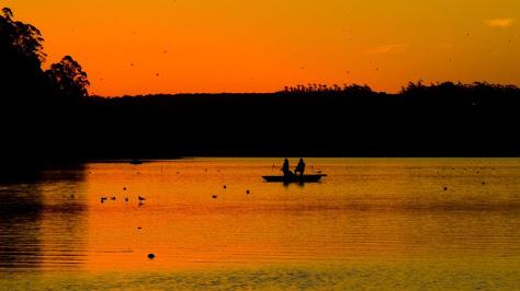 Anochece en la Laguna