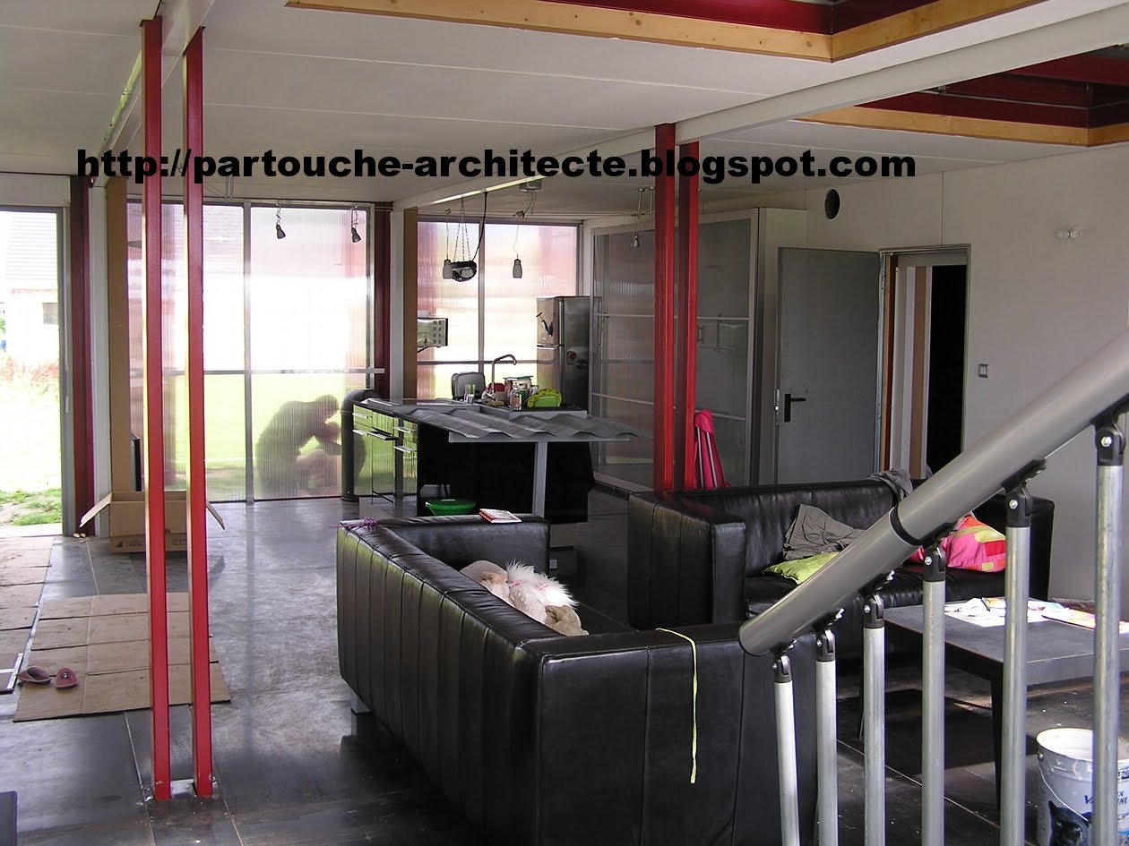 Patrick partouche container house lille for Plan amenagement container habitable