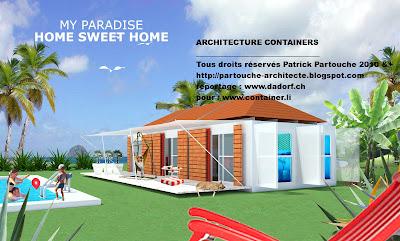 Patrick partouche bungalows container conteneur for Immeuble en container