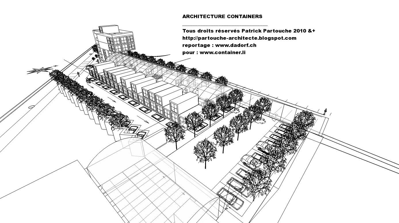 Patrick partouche immeuble bureaux containers for Immeuble en container