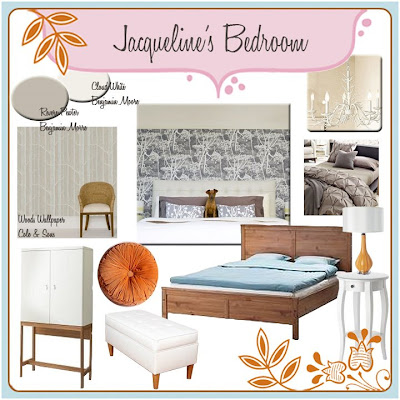 decorating client bedroom mood board
