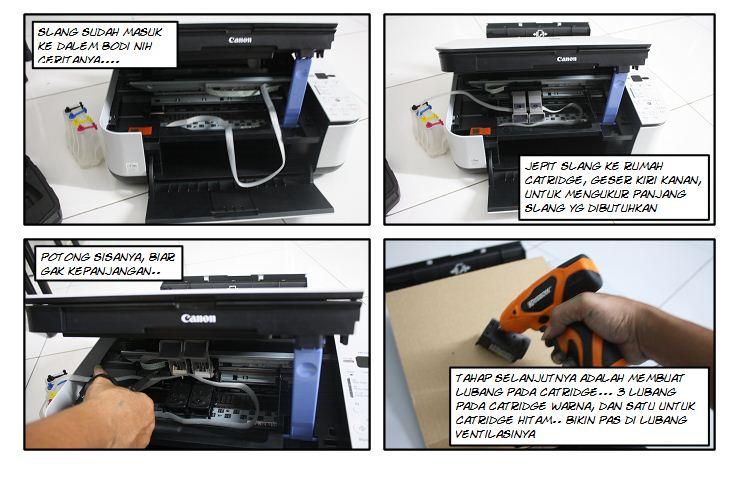 Cara Pasang Infus Canon MP 258 | FREE RESETTER PRINTER