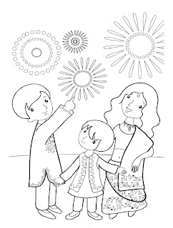 Diwali Coloring Pages Printable