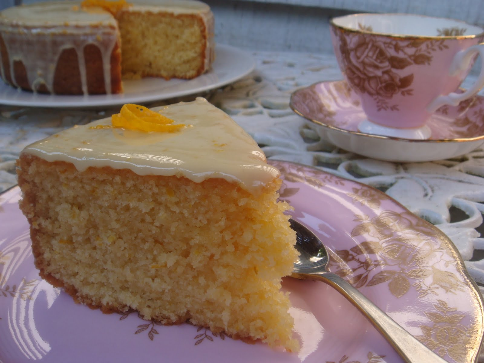 butter hearts sugar: Orange Coconut Cake