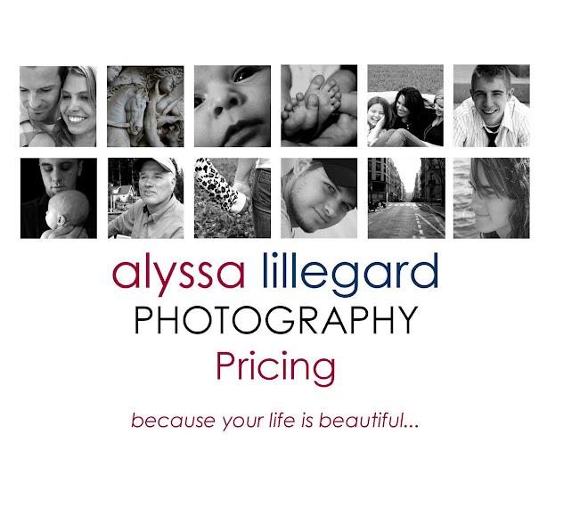 Alyssa Lillegard Photography Pricing