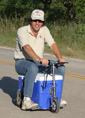 American Tailgater Company: Motorized Cooler Scooter