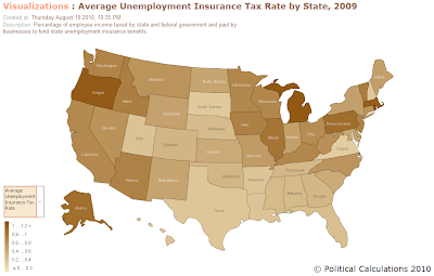 2009 Average Unemployment Insurance Tax Rates by State
