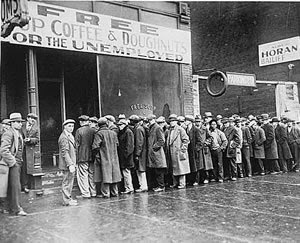 Unemployment Line in the 1930s, Source: phoenix.gov