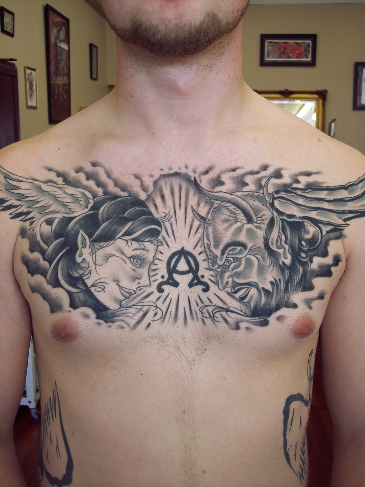 Heaven Chest Tattoos