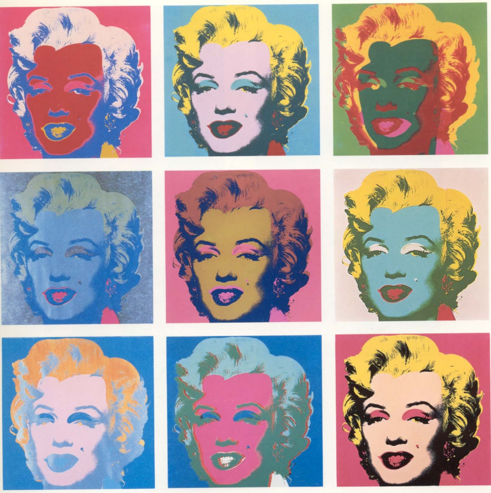 Carla's blog.: Andy Warhols Marilyn Prints