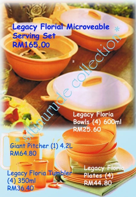 Legacy Florial Microwaveable Serving Set