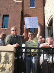 Outside Mark Kirk's Townhall