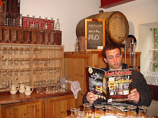 At the Aberlour distillery tasting room