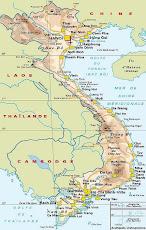 La carte du Vietnam