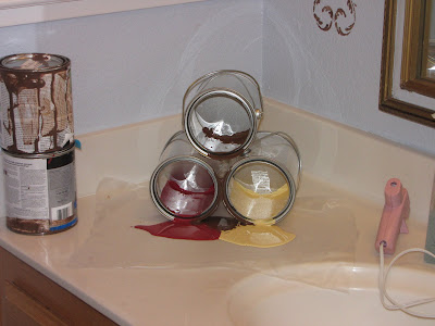 How to re-create the paint spill pen holder…