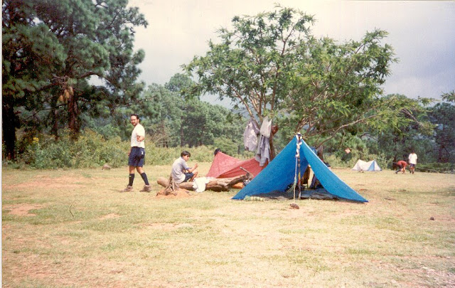 Refugio con toldo - V invertida - Durmiendo al aire libre en Tapalpa