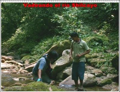 vadeando el rio shilcayo