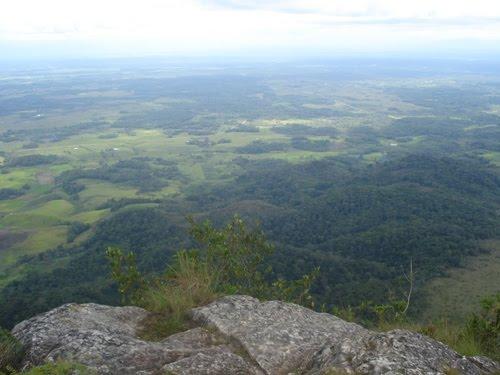 paisaje desde la cima del morro de calzada
