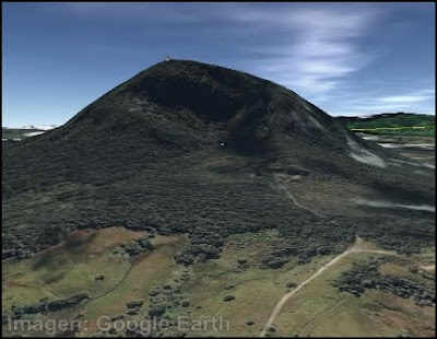 morro de calzada por google earth