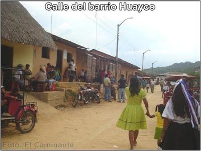 feria de la patrona de santa rosa del barrio huayco (lamas, peru)