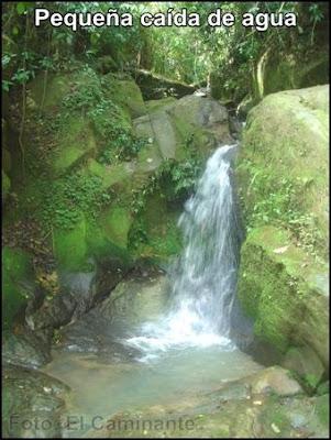 pequeña caida de agua mas arriba de la cascada de chapawanki (lamas, peru)