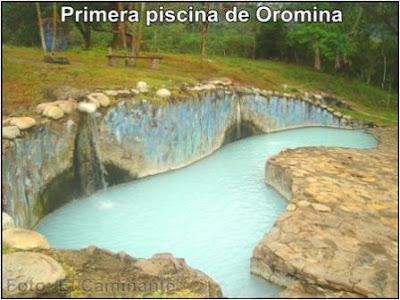primera piscina con agua azufrada en oromina (moyobamba, peru)