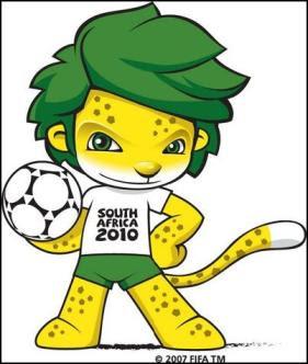 zakumi de sudafrica 2010, mascota de mundial