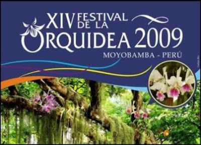 poster del xiv festival de la orquídea 2009 (moyobamba, peru)