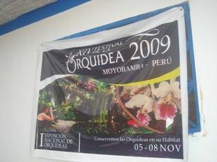 gigantografia del xiv festival de la orquidea 2009, moyobamba (peru)