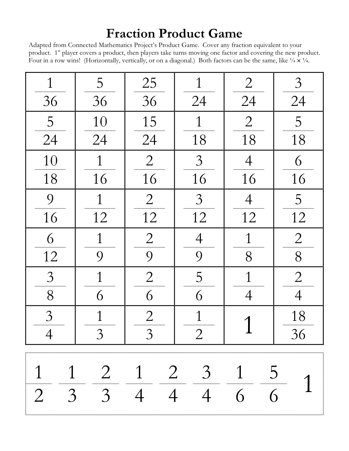 Math Hombre Multiplying Fractions Times Three – Fraction Puzzle Worksheets