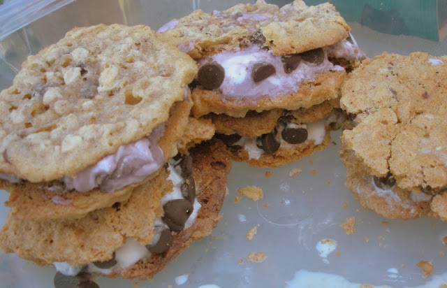 Off The Wall: Oatmeal Cookie Ice Cream Sandwiches