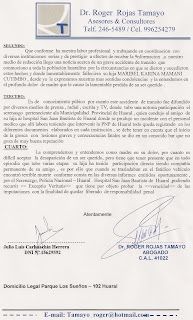 EXCUSAS RECTIFICATORIAS- ASUNTO :REFERENCIA CARTA NOTARIAL 15-03-2010