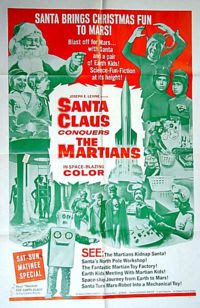 The movie Santa Claus Conquers the Martians (1954) is in the public domain and available for free download
