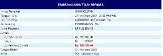 Pembayaran Bulan Oktober 2010 Rp.1.657.028,00