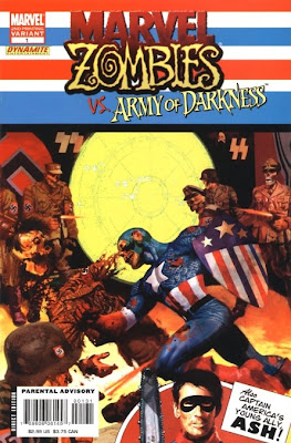 I hope it took Zombie Cap at least 10 minutes to shamble over to Zombie Hitler.