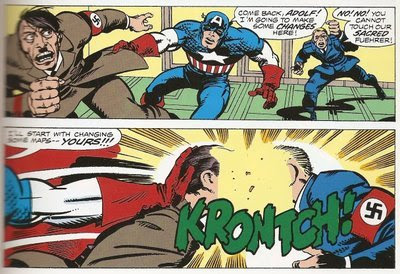 God Bless You, Jack Kirby, for knowing the correct sound effect for two Nazi faces slamming together.