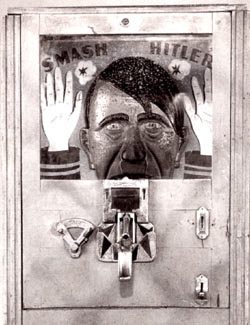 Okay Hitler...keep those hands up, and step out of the machine...