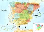 Mapa de España y sus provincias. Publicado por karla en 03:03 No hay . (espana )