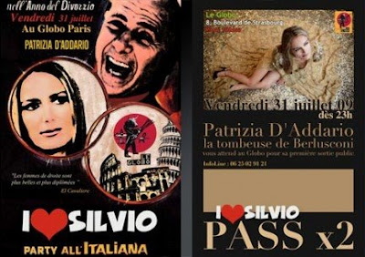 Festa di Berlusconi e Patrizia D'Addario a Parigi, le Globo