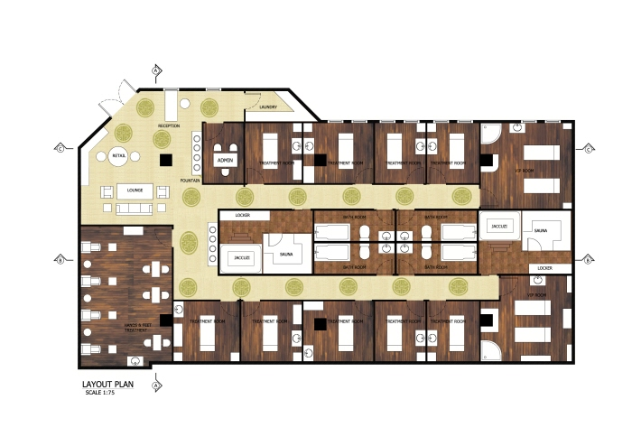 Massage Spa Floor Plan Layout